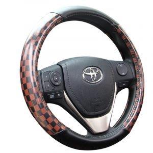 Brown PU Steering Wheel Cover