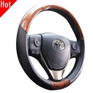 Burlwood Steering Wheel Cover