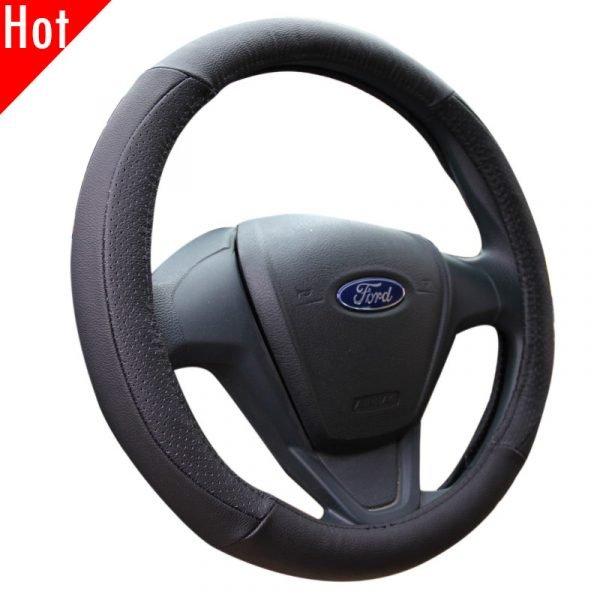 Genuine Leather Steering Wheel Cover