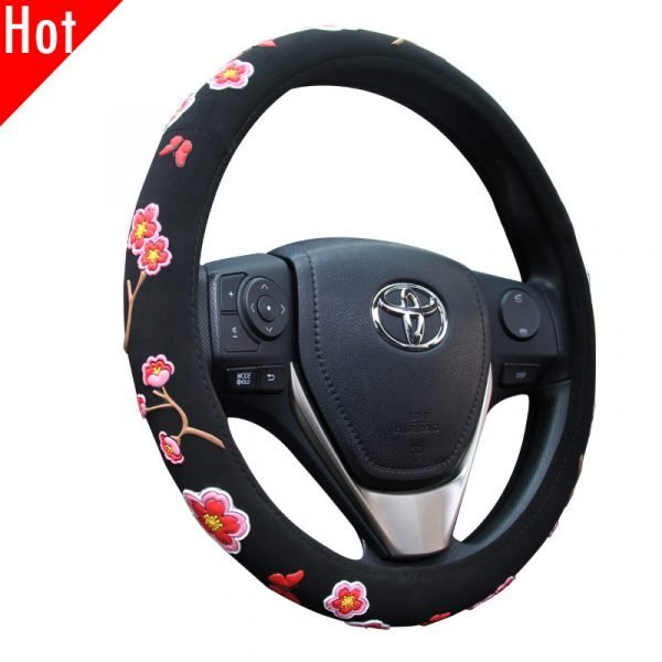 Girl Floral Steering Wheel Cover