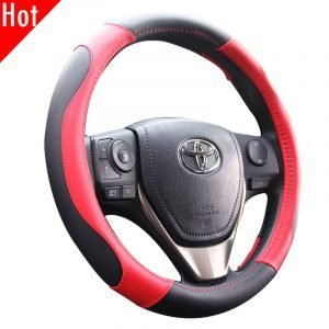 Leatherette Auto Steering Wheel Cover