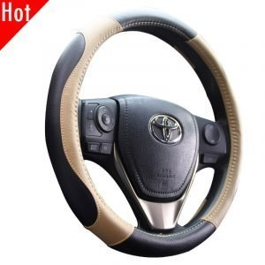 Leatherette Car Steering Wheel Cover 80448 (1)