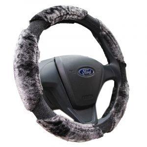 Long Plush Steering Wheel Cover