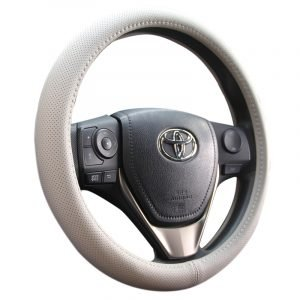 Perforated Leather Steering Wheel Cover
