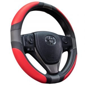 Red PU Steering Wheel Cover