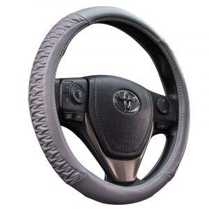 Shrink Gray Steering Wheel Cover
